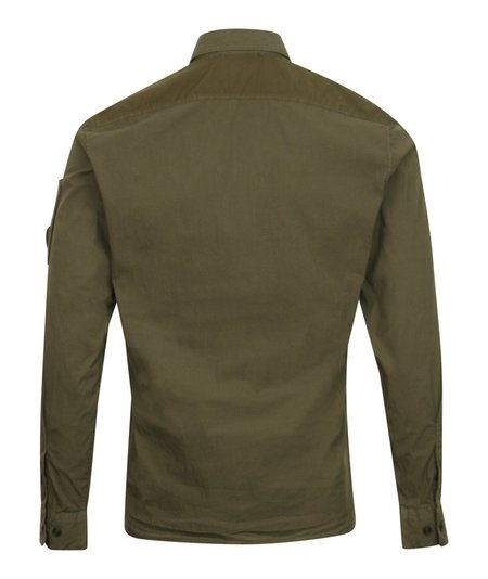 CP Company Contrast Panel Arm Lens Shirt - Khaki