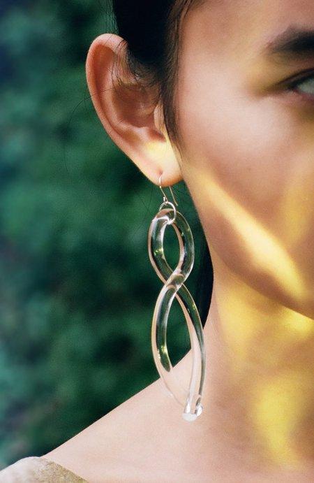 Corey Moranis Twist Earrings - Clear