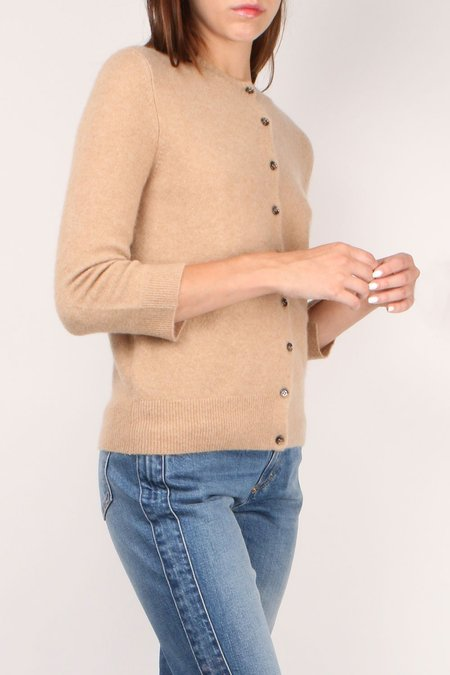 Allude Button Down Cardigan - Cafe Latte