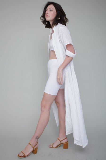 Tigre et Tigre Michelle Biker Short Set - white