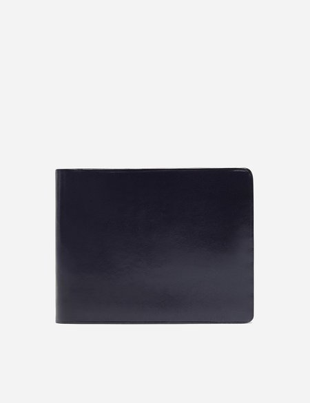 Il Bussetto Bi-Fold Leather Wallet - Navy Blue