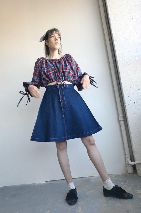 Eliza Faulkner Denim Pia Mini Skirt - Dark Wash