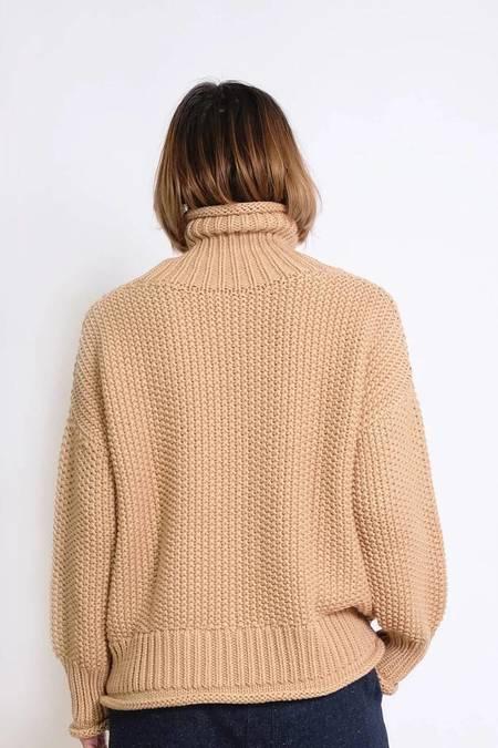 Micaela Greg Roll Neck Seed Sweater - Ecru
