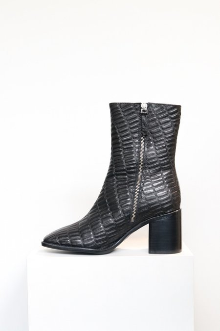 """INTENTIONALLY __________."" Contour Boot - Black Reptile"