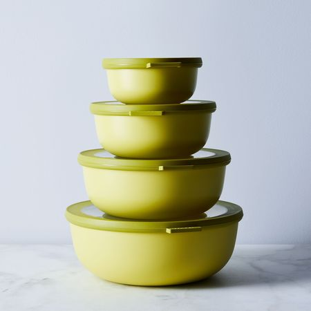Rosti Mepal Microwavable Nested Storage Bowls - Lime