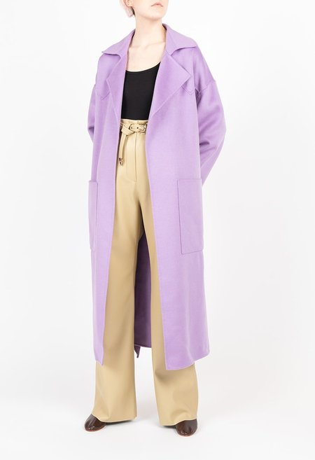 Nanushka Alamo Robe Coat - Lilac