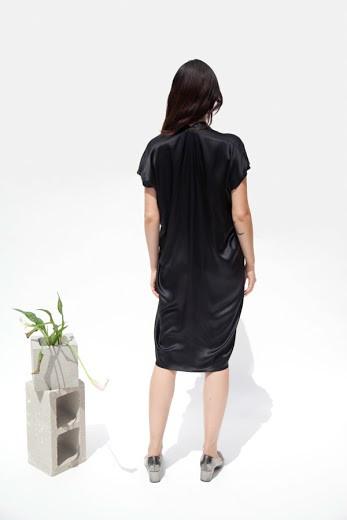 Miranda Bennett Everyday Dress, Silk Charmeuse in Black