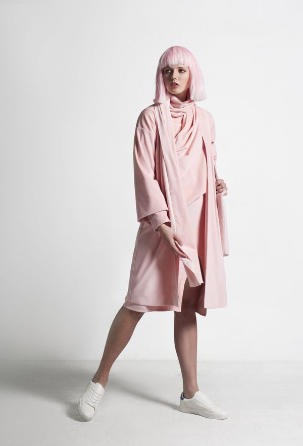 SIZ RASALAS COAT - Pink Velvet