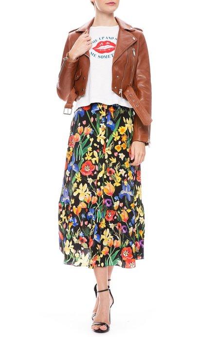 Chinti and Parker Charleston Skirt - BLACK/MULTI