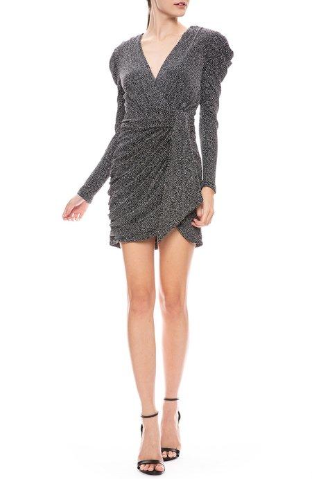 Jonathan Simkhai Glitter Jersey Deep V Mini Dress - Black