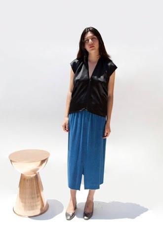 Miranda Bennett Everyday Top, Silk Charmeuse in Black