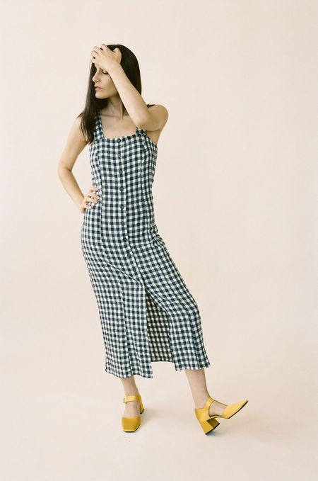 Rita Row Stefan Dress - Navy Gingham