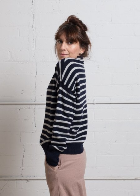 Acote Sailor Pullover - Navy/Grey