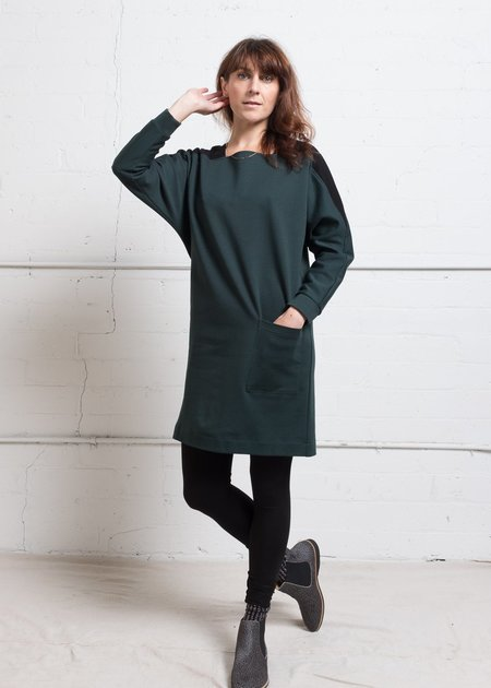 A. Oei Square Neck Sweater Dress - green
