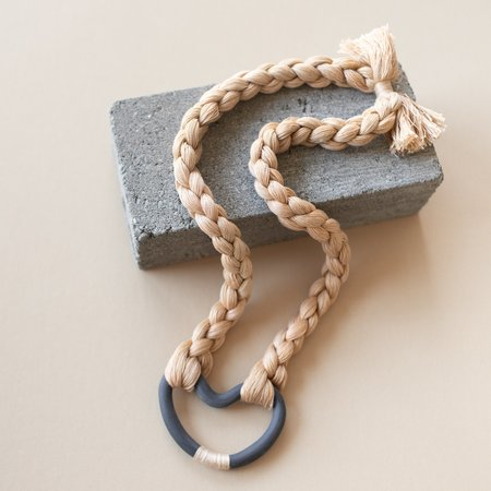 Barrow Open Form Necklace - Beige/Charcoal