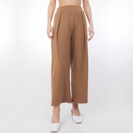 Corinne Collection Jojo Pleat Pant - Camel