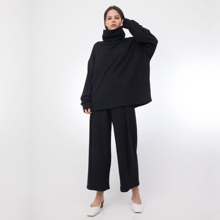 Corinne Collection Ricci High Neck Tunic - Black