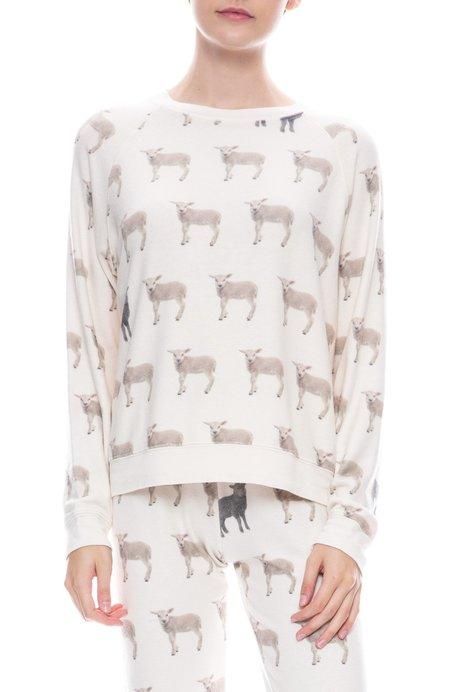 ALL THINGS FABULOUS Cozy Raglan Pullover - Black Sheep