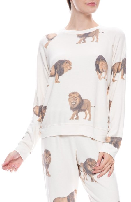 ALL THINGS FABULOUS Cozy Raglan Pullover - Lions