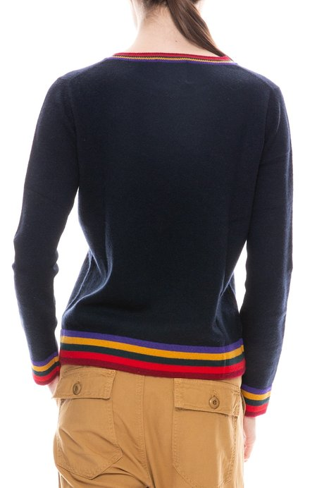 Jumper 1234 Ringer Stripe Crew Neck Sweater - NAVY/AUTUMN STRIPES