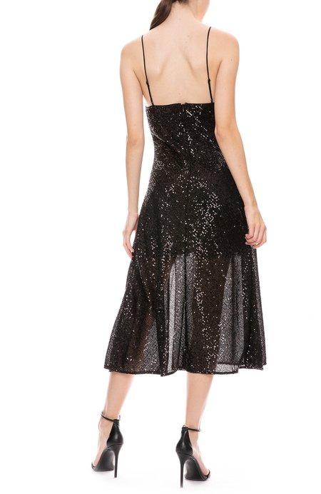 Jonathan Simkhai Cowl Neck Slip Dress - BLACK SEQUINS