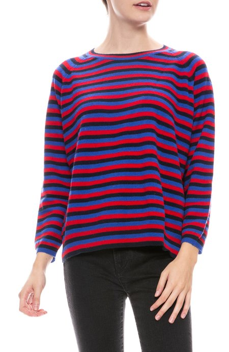 Jumper 1234 Three Stripe Sweater - NAVY/RED/BLUE