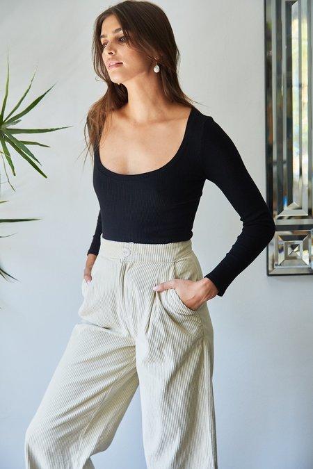 Rachel Pally Finley Sweater Rib Scoopneck - Black