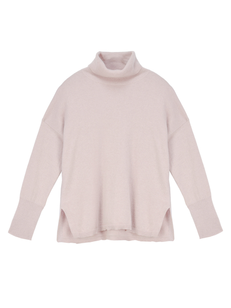 Pure Cashmere NYC Turtleneck Loose Fit Tunic - Dust Pink