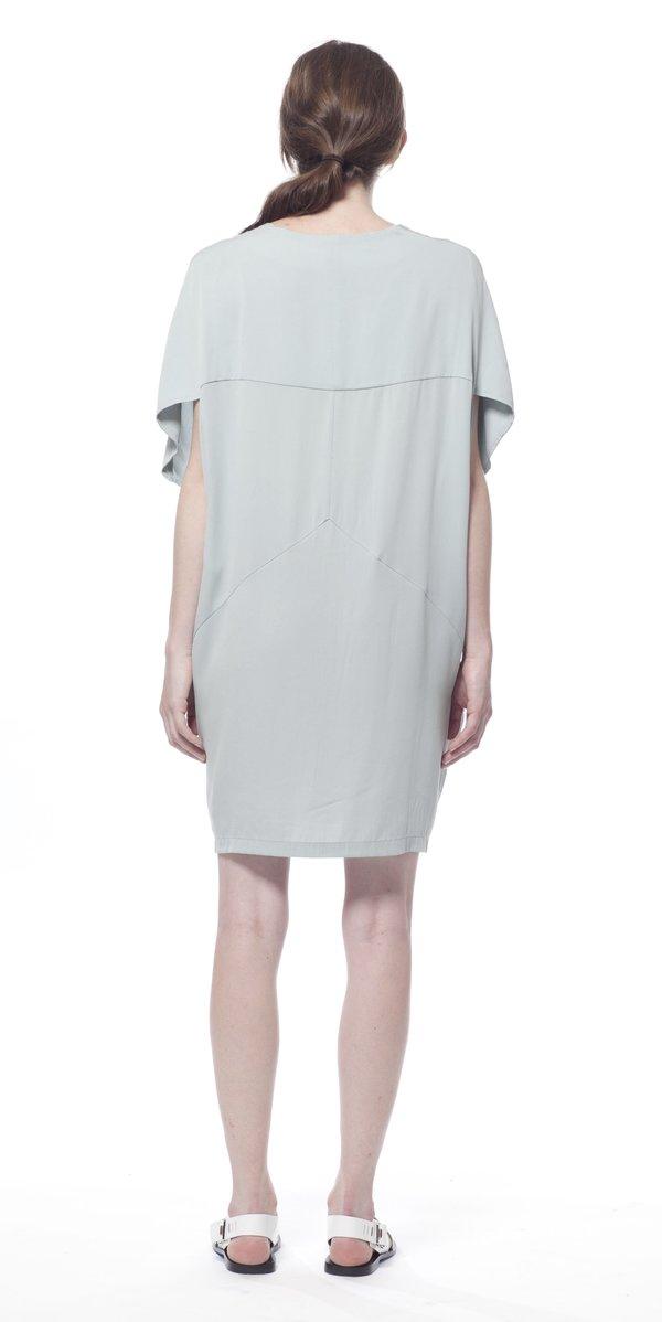 SCHAI Globe Silk Dress - Morning Fog