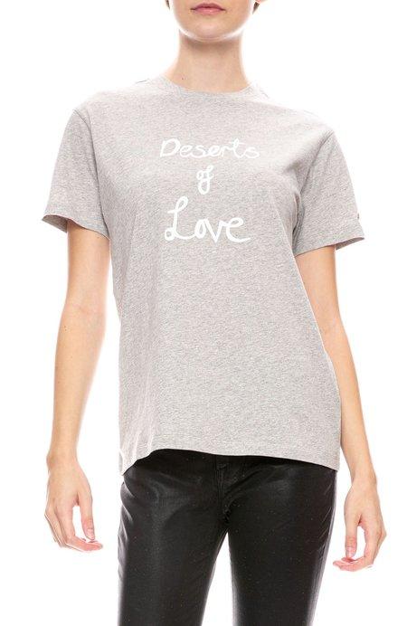 BELLA FREUD Deserts Of Love T-Shirt - Grey Marl