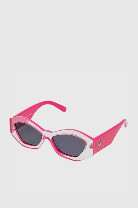 Le Specs The Ginchiest - Clear/Hot Pink