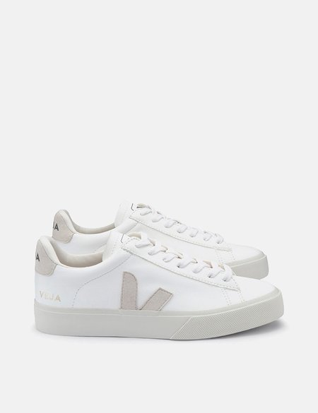 Veja Campo Chrome-Free Leather Trainers - White/Natural