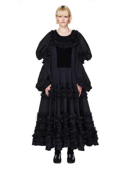 Comme des Garçons Ruffled Dress - Black