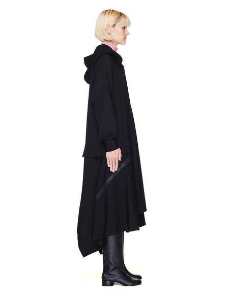 Yohji Yamamoto Wool Hooded Dress - Black