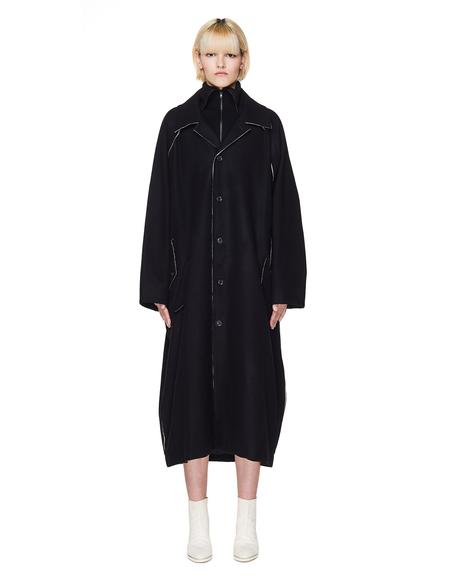 Yohji Yamamoto Wool Oversize Coat - Black