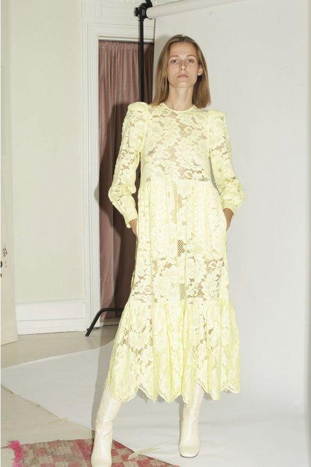 Mr. Larkin May Lace Dress - Lemon