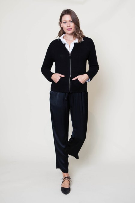 Kristensen du Nord #309 Zippered Cardigan - Black