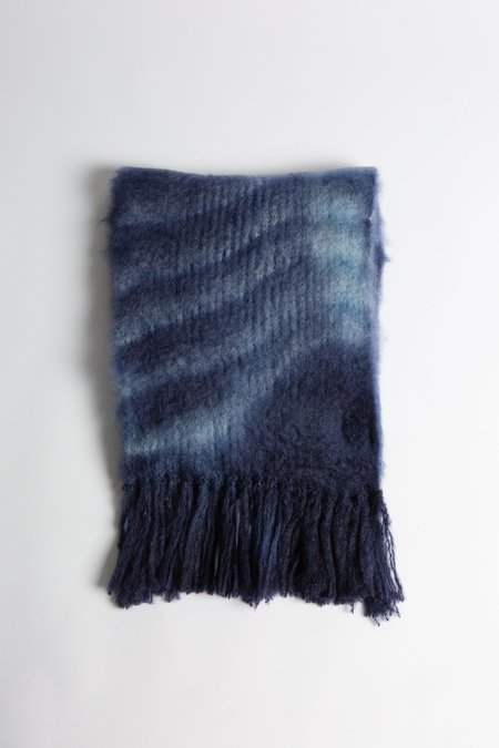 Baby Mo Baby Mohair Tie Dye Scarf - Midnight