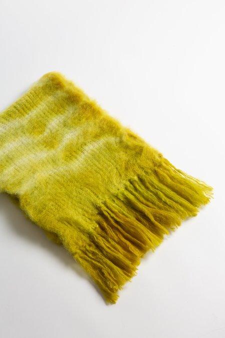 Baby Mo Kid Mohair Tie Dye Scarf - Sulphur