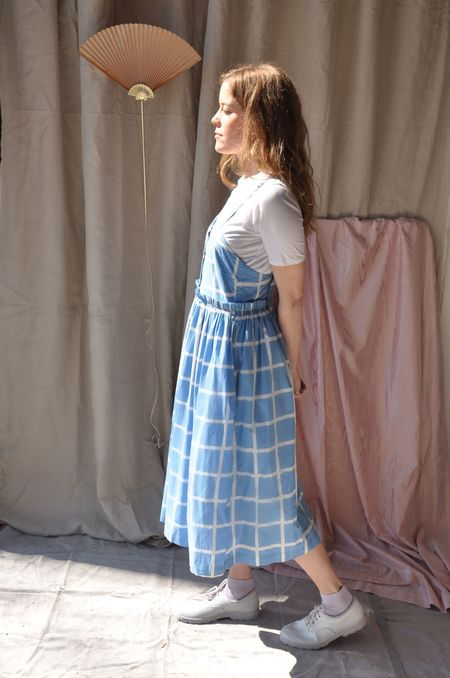 maggie jayne Picnic Dress - Sky Grid