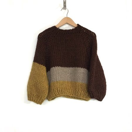 good night, day Kingston Sweater - Cordovan/Fawn/Ochre