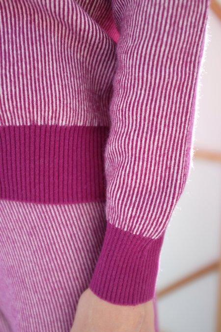 Beklina Cashmere Ribbed Crew Sweater - Baya/Petal