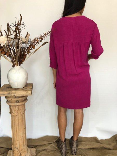 Eve Gravel Cocktail D'amour Dress - Fuchsia