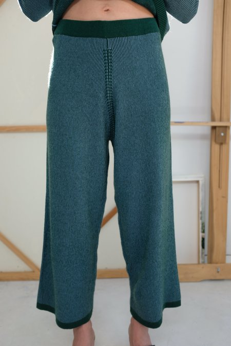 Beklina Cashmere Ribbed Trouser - Lake