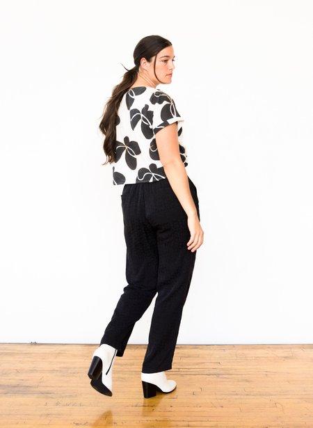 Seek Collective Miku Tile Silk Jacquard Pants - Black