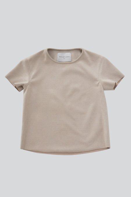 Dauntless Simone Suede T-shirt - Neutral
