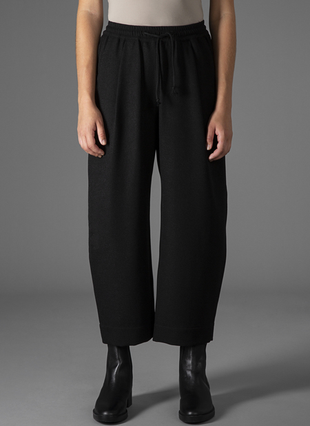 GREI OVATE BAGGY CREPE PANT - BLACK