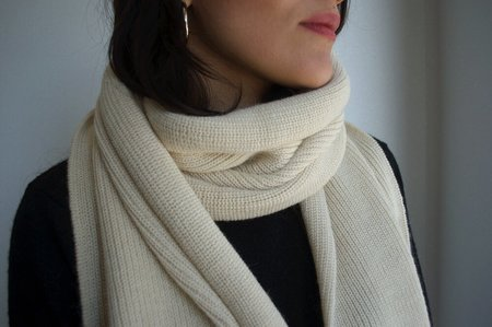 Echoview Fiber Mill Ribbed Alpaca Scarf - Natural