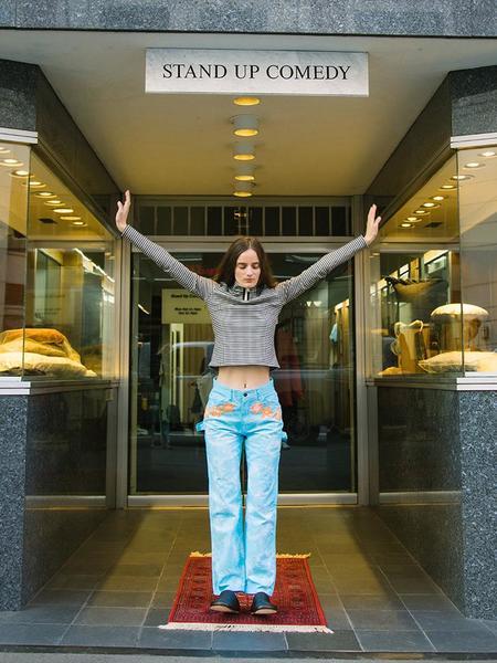 Unisex Frankie Krupa Vahdani Cherry Blossom Pant - Electric Blue