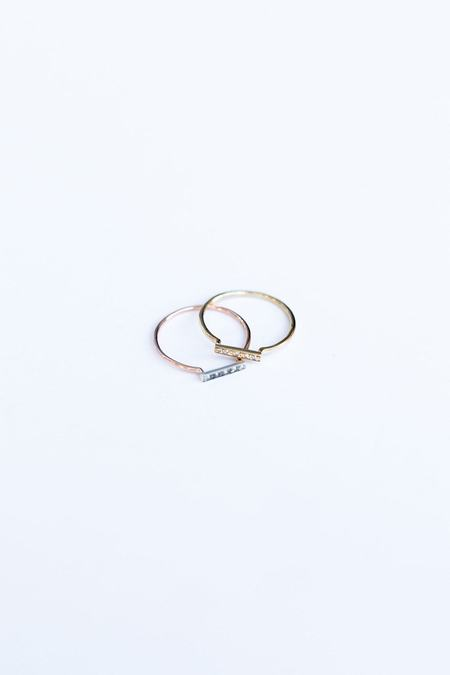 Blanca Monrós Gómez DAINTY STACKING RING - STERLING SILVER